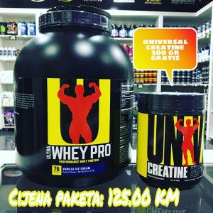 Universal Nutrition Whey 2.27 kg + Creatine 300 gr grat