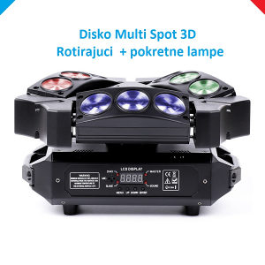 Disko Spot Multi  rotirajuci  profi DMX