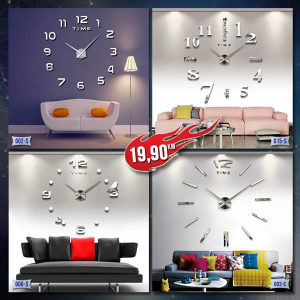 Sat zidni, 3D veliki sat, dekorativni sat 10 modela