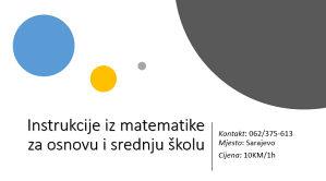 Online Instrukcije iz matematike,fizike i informatike