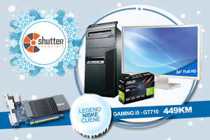 "WINTER SALE -GAMING RACUNAR i5 GT710 2GBD5-Acer 24"" FHD"