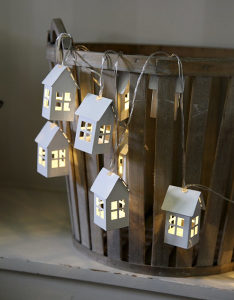 LED dekorativne kućice - novogodisnji ukrasi rasvjeta