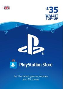 PSN UK PlayStation Network Card £35 (PS3 PS4) Gift