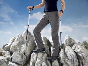 Hlače za planinarenje, sportske ženske CRIVIT