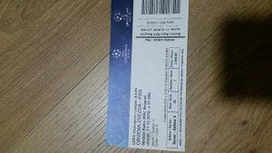 Karta za utakmicu Crvena Zvezda-PSG