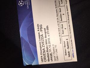 Karta Crvena Zvezda PSG