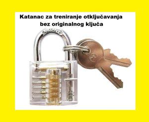katanac ključ brava providni za trening otvaranje brave