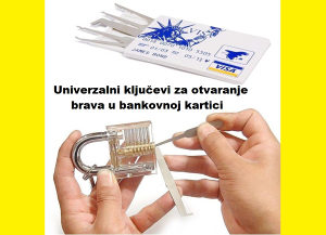 Alat za otvaranje brava brave kljuc kljucevi u kartici