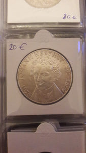 100 schilling 1976 srebro