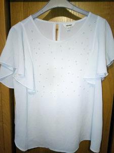 Predivna bijela bluza majica s biserima Koton