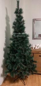 Jelka bor novogodišnje drvce 210 cm guste grane NOVO