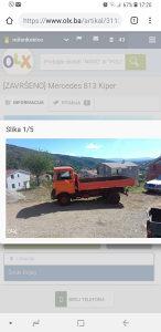 Mercedes 813 kiper