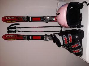 Djecije skije, komplet, pancerice, kaciga