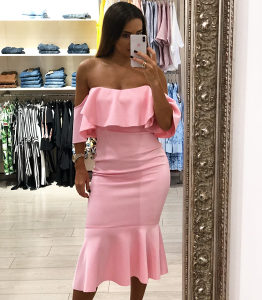 Divna roza haljina ,vel L