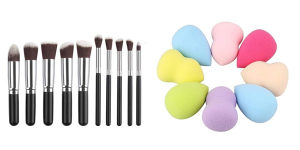 Set četke za šminkanje + blender