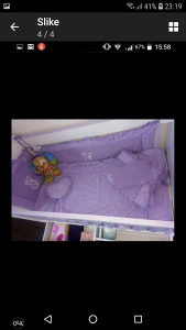 Krevetic za bebe sa madracem
