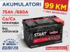 Start EXTRA 75Ah/680A - 99 KM sa dostavom!