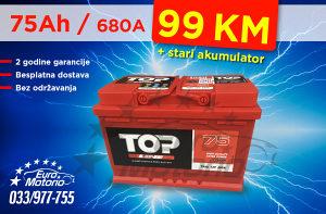 Akumulator 75Ah - 99 KM sa dostavom!