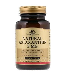 Natural Antaxanthin Solgar / 5mg / 60 mekih kapsula