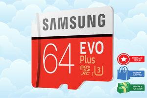 Original Samsung UHS - 3 64GB Micro SDXC Memory Card