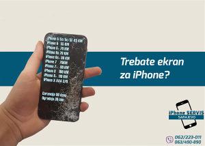 LCD Screen iPhone 6S - Sa ugradnjom