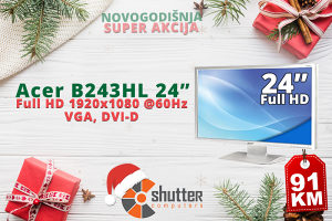 "SUPER AKCIJA - Acer 24"" FULL HD MONITOR"