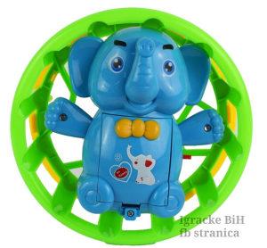 Slon na baterije svijetli, pjeva kreće se 17x17x9cm