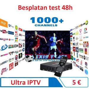 Ultra IPTV HD kanali VIDEOTEKA 48h test TV