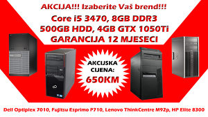 GAMING RAČUNAR Core i5 3470 GTX 1050Ti