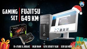 SET Fujitsu P500 i Fujitsu B22W-6 LED MONITOR
