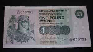 Škotska (clydesdale) 1 funta 1985