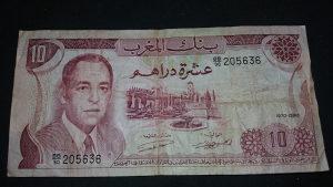 maroko 10 dirhema 1970