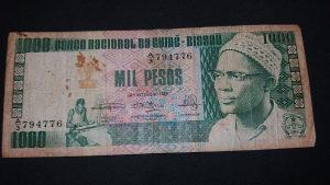 Gvineja Bisau 1000 pezosa 1978