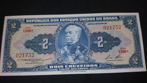 brazil 2 kruzeirosa 1953