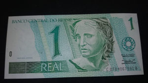 brazil 1 real 2005 UNC