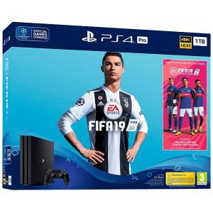 SET PlayStation 4B cases, 1TB HDD plus FIFA19 14days