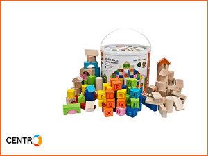 Igračka - Drvene kocke slova i brojevi 3 cm/100 kom