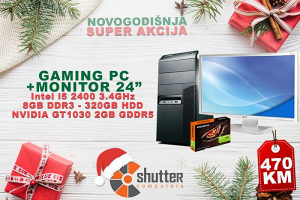 "WINTER SALE - GAMING RACUNAR i5 -GT 1030 -24"" FHD"