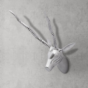 Zidna Dekoracija u Obliku Glave Gazele Aluminijska