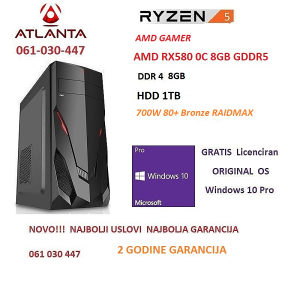 AMD PC Gamer Ryzen 5 1500X RX580 8GB 1TB HDD