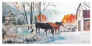 """Umetnicka slika """"Zima"""""""