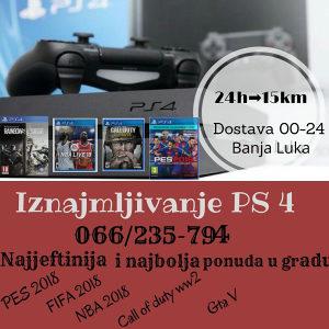 Playstation 4 iznajmljivanje (ps4) (Sony4)