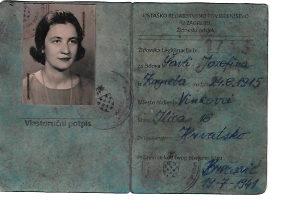 Židovska legitimacija NDH Nezavisna država Hrvatska