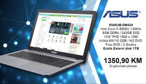 LAPTOP ASUS X540UB-DM434 i7-8550U AKCIJA !!!