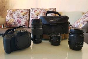 Fotoaparat Canon 1200D KAO NOV + 3 OBJEKTIVA