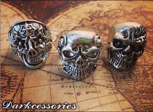 Musko Prstenje Skull Lobanja