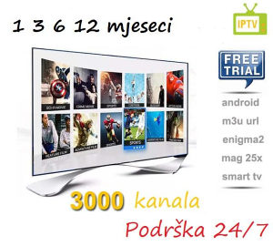 IPTV kanali 2500+sadrzaja. Podrska 24h