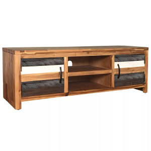 TV ormarić od masivnog bagremovog drva 120 x 35 x 40 cm