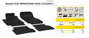 Patosnice gumene Renault Clio 3 4 (od 2005-) Modus