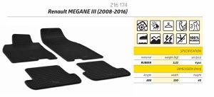 Patosnice gumene Renault Megane 3 (08-16) nove set